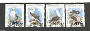 1990 Christmas Island SCOTT #270-73 WWF ABBOTT'S BOOBY Set of 4 Θ used stamps