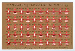 Denmark. Christmas Seal 1978.Comp. Set 5 Sheet. Scale/Proof Print. Imperforated