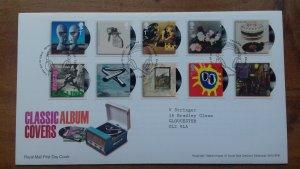 Great Britain 2010 Classic Album Covers - Self Adhesive FDC