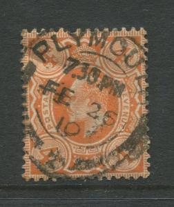 STAMP STATION PERTH: Great Britain  #150  Used 1911 Single 4p Stamp