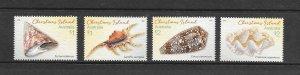 SHELLS - CHRISTMAS ISLAND #550-51  MNH