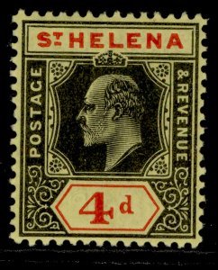 ST. HELENA GV SG66a, 4d black & red/yellow, LH MINT.