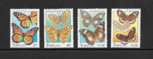 BUTERFLIES- TOKELAU #213-16  MNH