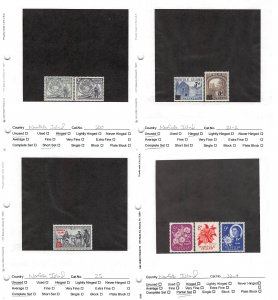 Lot of 58 Norfolk Island MH Mint Hinged Stamps #145831 X R