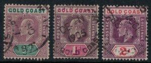 Gold Coast #49-51  CV $12.50