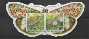 PITCAIRN ISLANDS Queen Elizabeth Era 2007 Salt and Pepper Moth