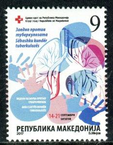 263 - MACEDONIA 2017 - RED CROSS - Tuberculosis - MNH Set