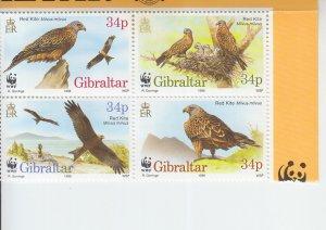 1996 Gibraltar Red Kite WWF B4 (Scott 718) MNH