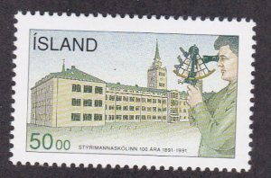 Iceland # 746, College of Navigation Centennial, NH, 1/2 Cat.