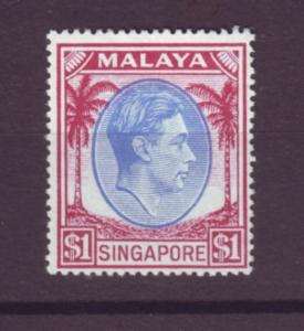 J21354 Jlstamps 1949-52 singapore mvlh #18a king perf 18