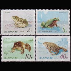 NORTH KOREA 1974 - Scott# 1239-42 Frogs Set of 4 NH