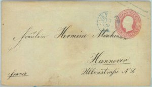 89239 - GERMANY Hannover - Postal History - STATIONERY COVER # U8 1861