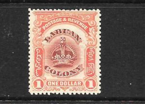 LABUAN   1902-03  $1 CROWN  MLH  SG 128