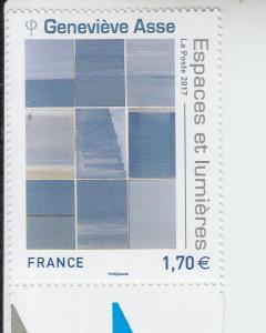 2017 France Genevieve Asse -Painter (Scott 5346) MNH