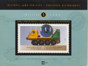 Canada .Presentation Pack. Historical Land Vehicels #3 MNH