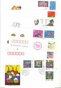 China  7  unaddressed FDC covers  VF