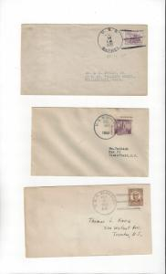 US Naval Covers  USS Barney, Barry & Blakely  All 1930's