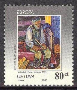 Lithuania 1993 Europa CEPT Art Paintings MNH