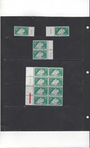 Colombia C371 MNH Plate Block of 8, 3 More Plate #, World Refugee Year