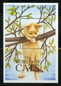 ANTIGUA CATS OF THE  WORLD  SOUVENIR SHEET II  MINT NEVER HINGED