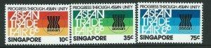 SINGAPORE SG389/91 1980 ASEAN FINE MNH