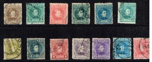 SPAIN STAMP OLD USED STAMP COLLECTION LOT #W4