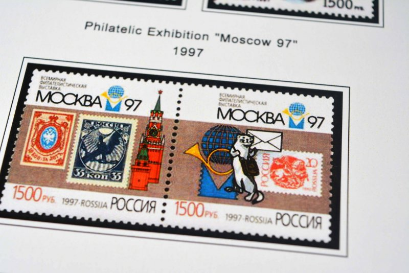 COLOR PRINTED RUSSIA 1992-1999 STAMP ALBUM PAGES (146 illustrated pages)