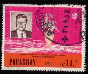 PARAGUAY (1965) G/.18,15 USED JOHN F. KENNEDY SPACE MEMORIAL VF