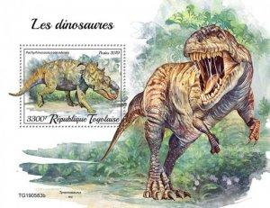 TOGO - 2019 - Dinosaurs - Perf Souv Sheet - M N H