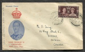 d299 - GB 1937 FDC Cover. Coronation. Leicester