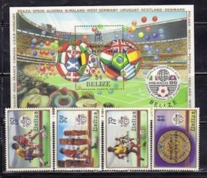 Belize 828-32 Soccer Mint NH