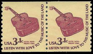 #1613 3.1c Americana Issue  Six String Guitar Coil Pair 1979 Mint NH