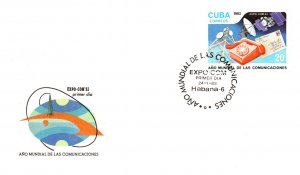 Cuba, Telephone and Telegraph, Worldwide First Day Cover