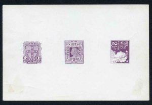 NEW SOUTH WALES SG288/95 1d 2d and 2 1/2d Die Proof in Reddish Lilac