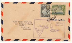 Bermuda WW2 First Day Cover FDC 7½d First Flight V FOR VICTORY Canada 1943 W56