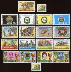 Tanzania Sc # 162, 168, 175-178, 181-184, 185-188, 197-200, O28.  MNH