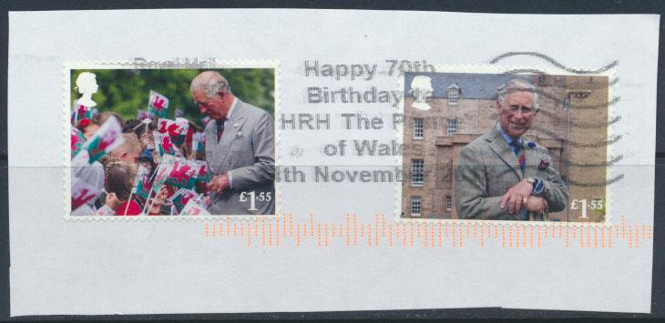 Great Britain Prince Charles 70th Birthday 2018  both £1.55 values   see scan