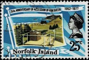 Norfolk Island 1977 Silver Jubilee used