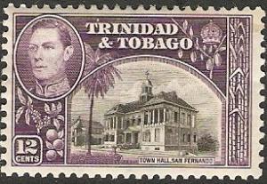 1938 Trinidad & Tobago Scott 57 King George VI MH