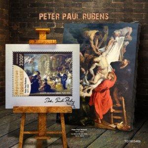 Stamps TOGO 05 11 2019 Code: TG190544a-TG190564в - Peter Paul Rubens. Blok.