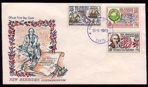 NEW HEBRIDES 1968 Bougainville commem FDC - Santo violet cds.......36488