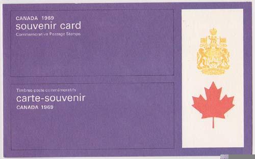Canada USC #SC9 Cat. $5.00 1967 Souvenir Card VF