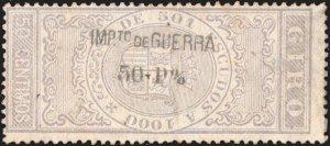 ESPAGNE / SPAIN / ESPAÑA 1874 Sello Fiscal (GIRO) 50c sobrecarga IMPto de GUERRA