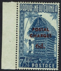 PAPUA NEW GUINEA 1960 POSTAL CHARGES 7½D MNH **