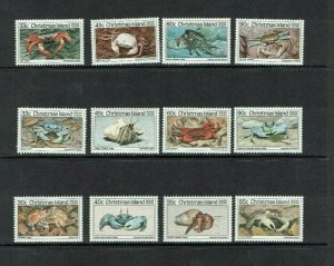 Christmas Islands: 1985  Crabs, series 1 - 3,  MNH sets