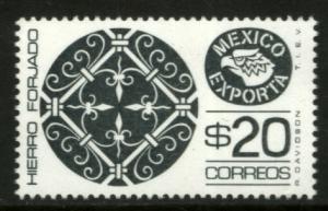 MEXICO Exporta 1465 $20P Iron P 11 1/2 Fluor Paper 8 MINT, NH. VF.
