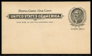PUERTO RICO #UX1 UNUSED -- XF -- POSTAL CARD BT2324