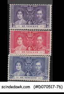 ST. VINCENT - 1937 KGVI CORONATION - 3V - MINT HINGED
