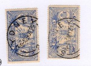 New Hebrides #50 Sydney Postmark SET! Used - Stamp - CAT VALUE $12.00++