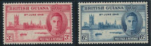 British Guiana SG 320/1 Mint Hinged (Sc# 242/3 see details)